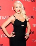 Christina Aguilera Looks Slim, Bares Cleavage at Time 100 Gala