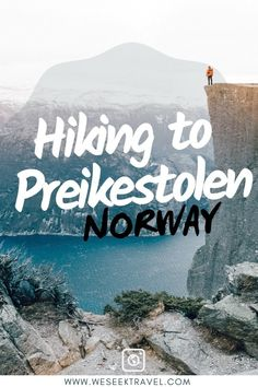 Preikestolen is a steep cliff which rises 604 metres above the Lysefjorden. Hiking to Preikestolen is one of the best destinations in Norway. Hiking Norway, Norway Travel, New Travel, Ultimate Travel, Group Travel, Hiking Spots, Hiking Trails, Amazing Destinations, Travel Destinations