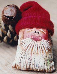Christmas Ornaments To Make, Christmas Sewing, Christmas Bags, Primitive Christmas, Christmas Themes, Christmas Holidays, Christmas Crafts, Christmas Decorations, Santa Paintings