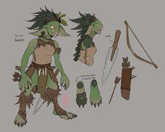 Goblin, ᚳ ᚢ ᛁ ᚻ ᚾ ᚾ Character Concept, Character Art, Concept Art, Character Ideas, Dnd Characters, Fantasy Characters, Fantasy Inspiration, Character Inspiration, Goblin Art