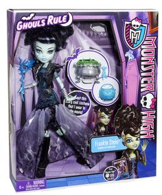 Monster High Ghouls Rule Frankie Stein Doll: Amazon.co.uk: Toys & Games