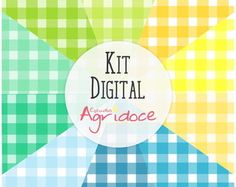 Kit Digital Papéis Xadrez