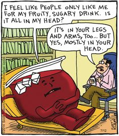 Is it all in my head?...    - 'The Argyle Sweater' by Scott Hilburn;  7/12/14