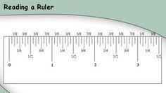 Reading a ruler graphic - i know i am a dork but this really helped me today!