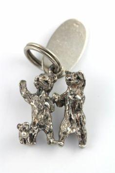 Vintage 925 Maisel's Sterling Silver Glacier Park 3 Bears Charm for Bracelet   eBay