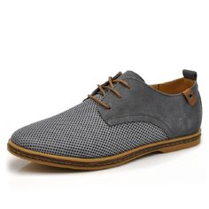 The new spring and summer 2017 pointed British leisure leather men's casual shoes summer hollow out shoes big size