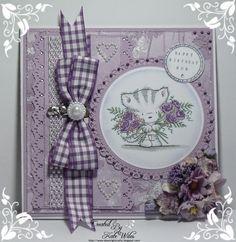 Female Birthday card, using Wild Rose Studio image Elsie with Roses