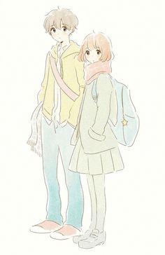 anime, kawaii, and anime girl图片 Manga Anime, Anime Gifs, Anime Art, Anime Love Couple, Cute Anime Couples, Kawaii Art, Kawaii Anime, Manga Drawing, Manga Art