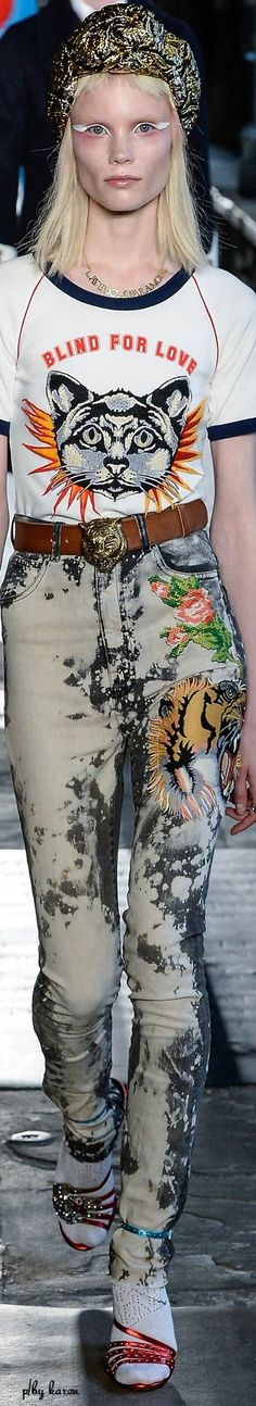 Gucci inspired acid wash jeans