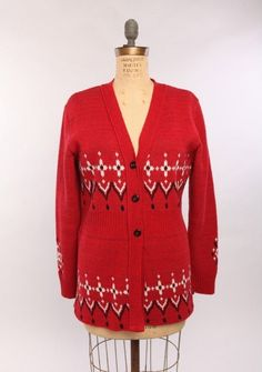 Made in America Bandana Cardigan - Color: Red