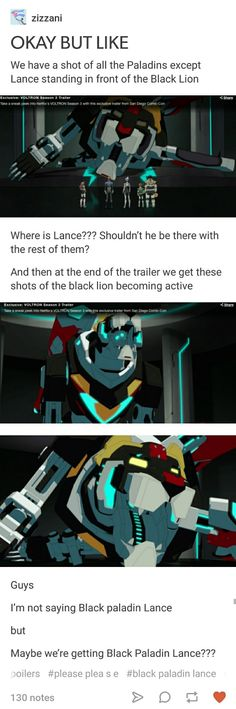 I don't think so... Shiro told Keith that if he was gone, then Keith would take over the black lion and be the team leader. Maybe Lance was off finding a new palidan? Or he was captured or something? Idk.....