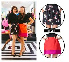 Editors Danielle Moss and Alaina Kaczmarski's skirts from the holiday party on sale at @katespadeny for more than half off!