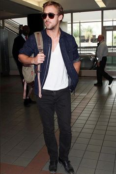 #dreamindenim  J Brand Kane Slim Straight Leg in Phantom Wash - as seen on Ryan Gosling