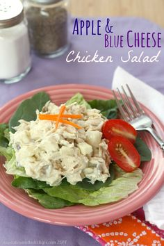 Apple & Blue Cheese Chicken Salad - an easy lunch, dinner or appetizer | cupcakesandkalechips.com | #glutenfree #greekyogurt