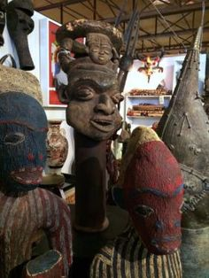 """African Royal Helmet Head Mask On Sale   Bamum People   Cameroon   50+ Years Old   11"""" Wide x 12"""" Deep  Was $1295 Sale Price $648  Tribal Art and Accessories  Dealer #135  @ Lost. . .A"""