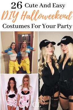 The Cutest College Halloween Costumes The HOTTEST Halloween costumes perfect for college parties. These Halloween costumes are genius, easy, and DIY. Halloween costumes for college parties. Diy Halloween, Easy Girl Halloween Costumes, Creative College Halloween Costumes, Inexpensive Halloween Costumes, Halloween Mignon, Easy Diy Costumes, Halloween College, College Costumes, Alien Halloween