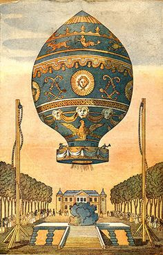 The Montgolfier brothers launched the first flight of a hot-air balloon in 1783, paving the way for further human exploration of the sky and space.