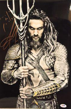 "JASON MOMOA Signed Autographed ""Aquaman"" 12x18 Photo PSA/DNA #AA34193"