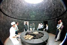 Eat inside a real volcano! El Diablo, Spain