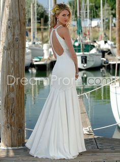 Buy Cheap Cheap Dramatic Trumpet/Mermaid High Neck Beach Wedding Dresses CH204557 Default Category under $190.59 only in udreamprom.