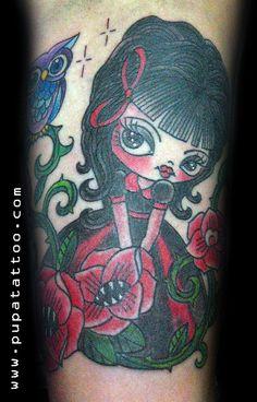 Tatuaje Muñeca Buho, Pupa Tattoo Granada
