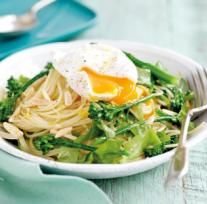 Lemony pasta with poached eggs | Australian Healthy Food Guide