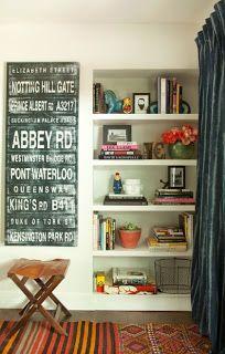 Accessorize bookcase.
