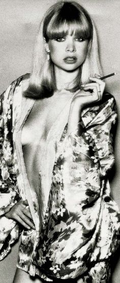 Jo Wood modeling in the Seventies // lovely hair and makeup