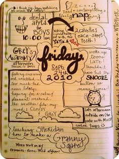 Interesting way to journal an ordinary day