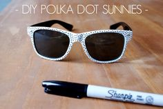 The Confetti Room: DIY Polka Dot Sunglasses