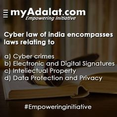 Do you know about Cyber Law? To know more, talk to our experts @ www.myadalat.com #empoweringinitiative #law #judge #lawyer #justice #familylaw #UP #Indianlaw #lawyers #highcourt #bombayhighcourt #cyberlaw Cyberlaw Clinic CyberLaw UW Cyberlawebavillas Cyberlaw Law LawRato.com Law & Order: Special Victims Unit Lawvedic.com Lawyersclubindia LawyerServices CriminalLawyer.com Criminal Lawyers in Delh