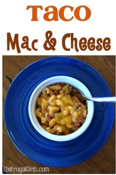 Taco Macaroni and Cheese Recipe! ~ at TheFrugalGirls.com ~ Give your ordinary Mac & Cheese some spicy kick! #recipes