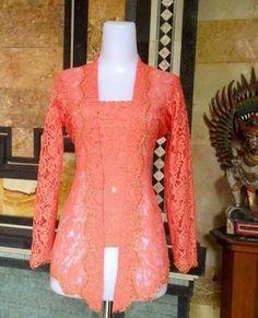 Kebaya Lace, Kebaya Brokat, Batik Kebaya, Kebaya Dress, Kebaya Kutu Baru Modern, Modern Kebaya, Indonesian Kebaya, Myanmar Dress Design, Kebaya Muslim