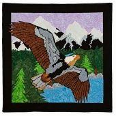 Man Sewing Eagle Over Alaska Kit