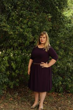 Plum Bamboo Jersey - Colette Moneta - Idle Fancy