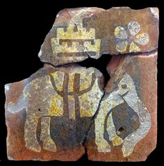 Medieval tile from Glastonbury Abbey, England.