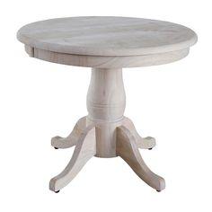 Round Pedestal Table, Beig/Green (Beig/Khaki)