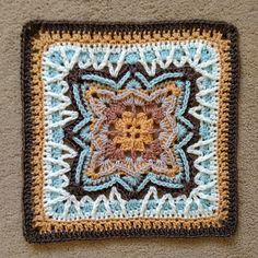 Crochet Mandala Pattern, Crotchet Patterns, Granny Square Crochet Pattern, Crochet Stitches Patterns, Crochet Squares, Granny Squares, Crochet Blocks, Crochet Granny, Yarn Projects