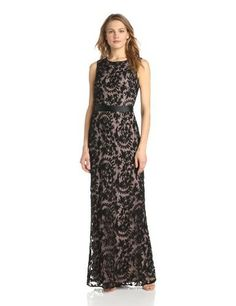 Adrianna Papell Women's Sleeveless Lace Mermaid Gown, Black, 10 - Special Occasion #Special #Occasion #Dress #Dresses #Apparel #Fashion #Wishlist #Gift #Gifts #Christmas #Fashion #dresses4women