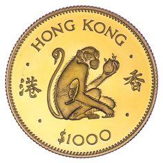 1.000 $ 1980 Jahr des Affen Gold
