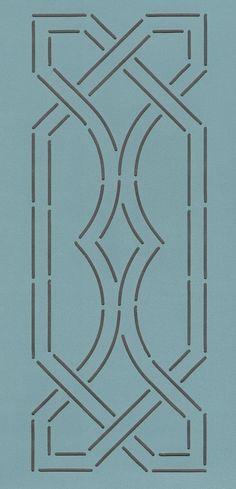 """Celtic Diamond Border 3.5"""" - The Stencil Company"""