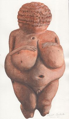 #VenusOfWillendorf #FertilityFigure painted by #NikitaCoulombe
