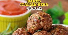 Italian Herb Baked Meatballs are the perfect recipe to learn how to make meatballs the right way. They are truly the most amazing meatballs we have ever had. Our baked meatballs are beautifully browned on the outside and tender and juicy on the inside.