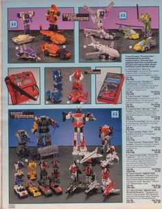 Transformers in old Argos catalogue