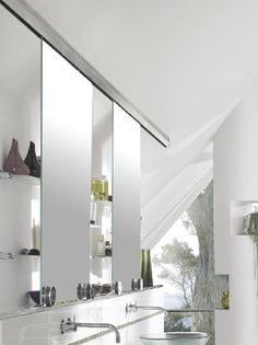 Awesome Terra Style Of Stainless Steel Door Hardware Create Sliding Mirror...  Requires Top Tracks