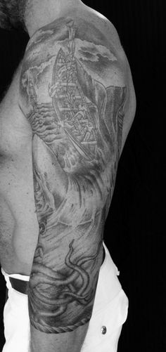 a moby dick tattoo by stephanie tamez!