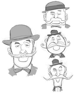 men in bowler hats and mustaches