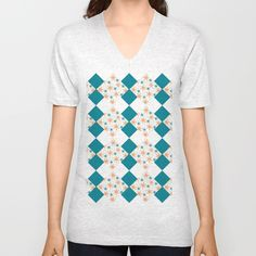 Green pattern Unisex V-Neck by LaskaArt | Society6