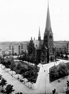 Berlin 1907 Der Karl-August-Platz mit der Trinitatskirche