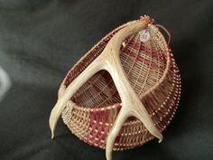 antler basket. smoked reed and russet mule deer